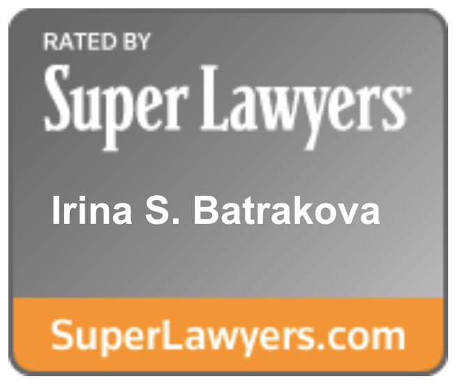 Irina S. Batrakova Super Lawyers Badge