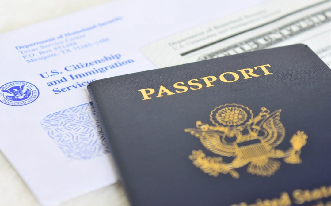 USCIS processing forms and passport