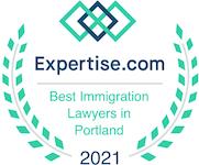 best immigration lawyers - Portland Oregon Expertise 2021 Award